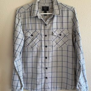 FOREVER 21 Gray Flannel Button Down Shirt